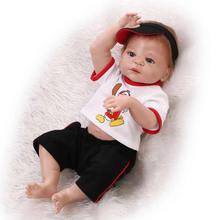 Latest 2016 Reborn Baby Dolls Full Body Silicone Vinyl 23 Inch 58 CM Newborn Boy Babies With Baseball Clothing Kids Playmate