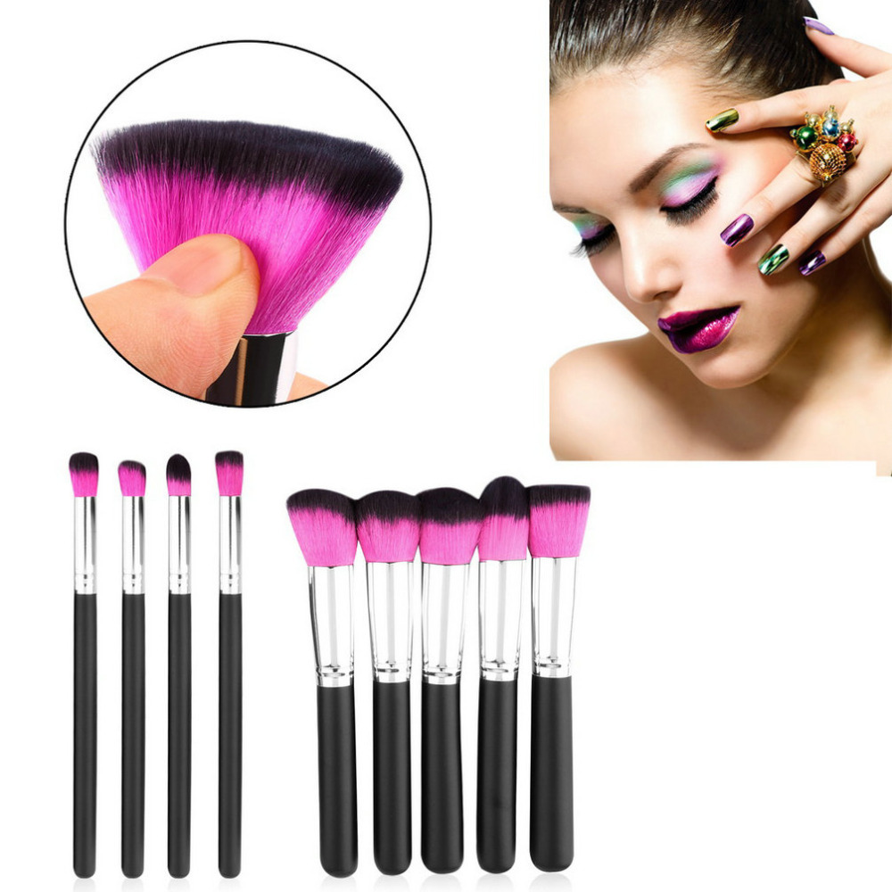 Professional 10Pcs Cosmetic Makeup Brush Set Foundation Powder Eyeliner Brushes, High Quality Make up Tool Kit Christmas Gifts maquiagem professional foundation makeup brush wooden soft hair round powder blush make up brushes cosmetic tool high quality