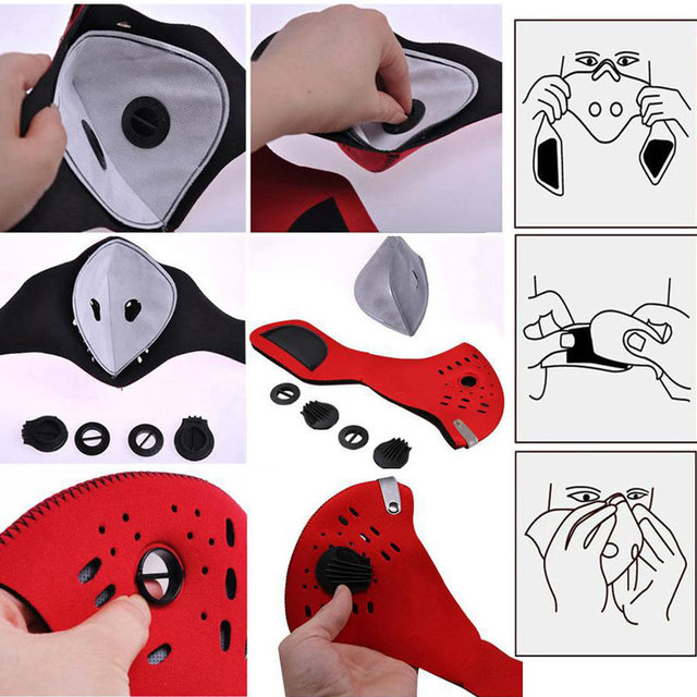 New Arrivals One Size Bike Bicycle Sport Riding Neck Warm Protect Face Mask Dustproof Guard mascara ciclismo Cycling Accessories 5