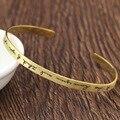 Золотой Покрытием Индивидуальные Подпись Браслет матовый 925 Насыщенный Серебряный Женщины Браслеты & Браслеты Персонализированные