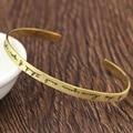 Plateado de oro Personalizado Firma cepillado 925 Solid Mujeres de Plata Pulseras y Brazaletes Personalizados