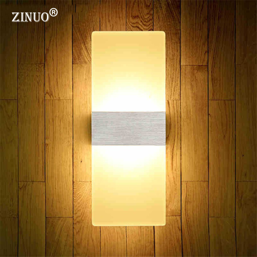 ZINUO 6W 12W Modern Led Wall Lamps Acrylic Bed Room Wall light Living Sitting Room Foyer