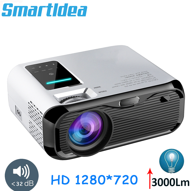 Smartldea 2019 New 720P HD MINI Projector,native 1280*720 3000lumens LED Video Proyector for Home Cinema Portable Beamer HDMI(China)