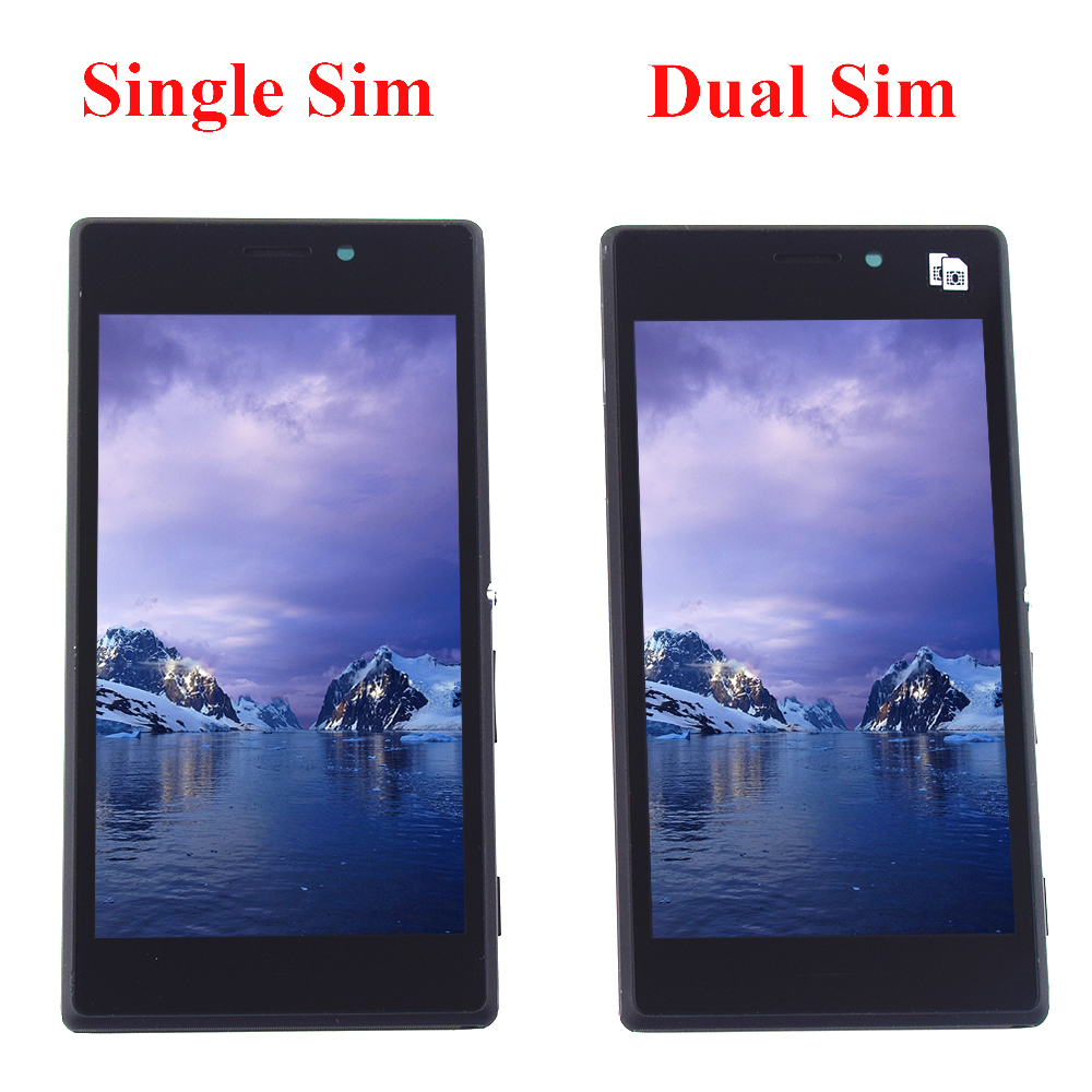 For Sony Xperia M2 S50H D2302 D2305 D2306 Full Touch Screen Digitizer Sensor Glass Panel + LCD Display Monitor Assembly FrameFor Sony Xperia M2 S50H D2302 D2305 D2306 Full Touch Screen Digitizer Sensor Glass Panel + LCD Display Monitor Assembly Frame