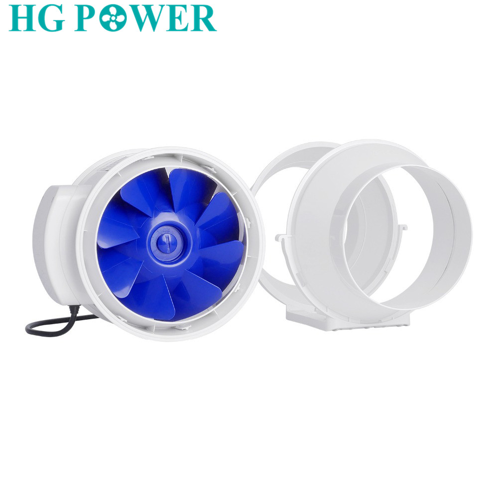 4 inch 220V Silent Home Inline Duct Fan with Strong Ventilation System Extractor Fan Air Clean Kitchen Toilet Bathroom Fans