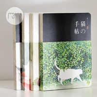 Novo em branco do vintage sketchbook diário desenho pintura 80 folha gato bonito caderno de papel esboço livro material escolar escritório presente