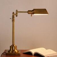 Американская деревня аналитическое исследование E27 светодиодный Спальня настольная лампа творчества промышленного ретро отель офис Декор