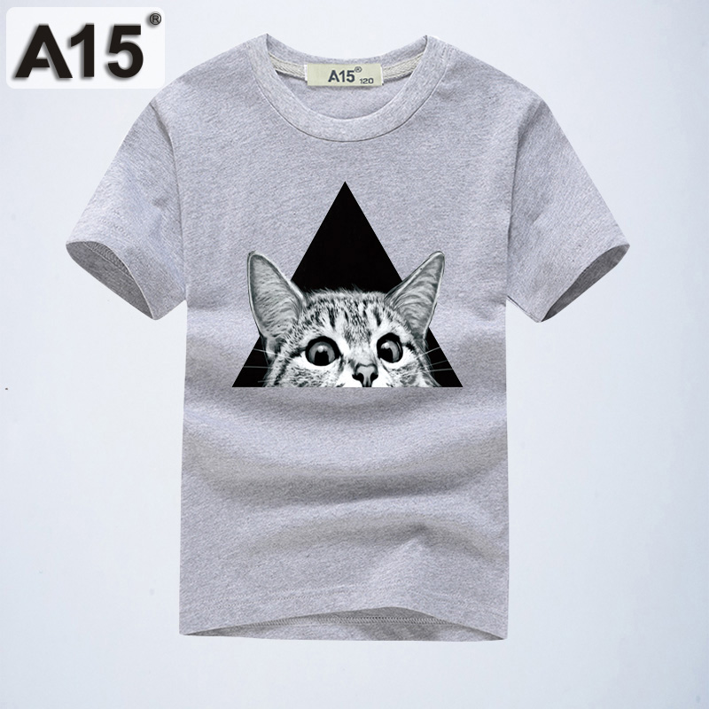 319e643b3 A15 3D Cat Printed T Shirts Baby Boys Tshirts Toddler Kids Short Sleeve T- Shirts Costume For Girls Tops Size 6 8 10 12 14 Years