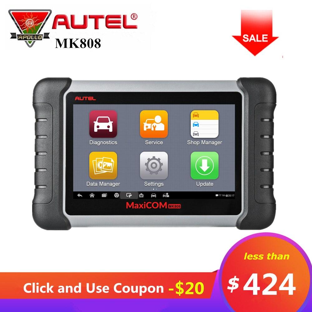 Autel MaxiCOM MK808 Strumento Diagnostico OBD2 Lettore di Codice di obd 2 Scanner Con Sistemi Completi come MD802 per Tutti I Sistemi + MaxiCheck pro MX808