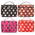 New 4 Colors Cherry Pattern Woman Hanging Makeup Cosmetic Toiletry Bag Pouch Travel Wash Organizer Case Multicolor