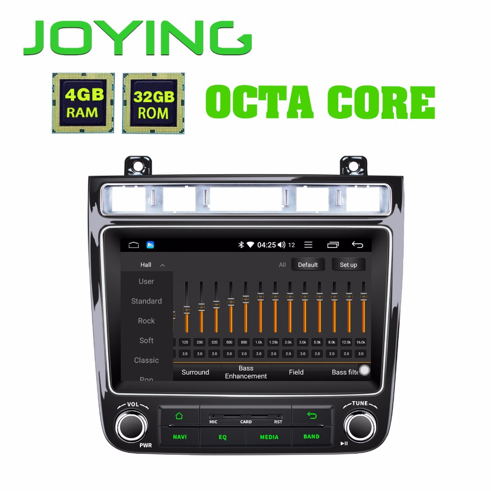 JOYING 8 GPS Android 8.1 Car Radio For VW touareg 4GB Multimedia 1 Din player auto audio BT DSP Fast Boot Octa Core 2010-2017