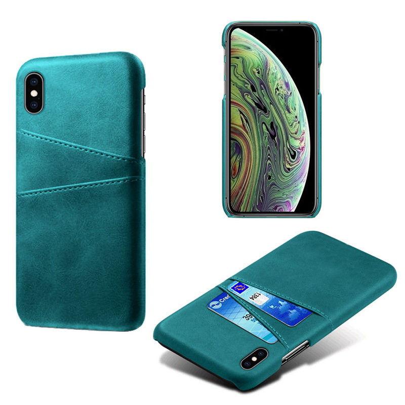 Роскошный держатель для карт чехол для iphone 5, 5S, 6, 6 S, 7, 8 Plus, 5se, кожаный чехол-кошелек для iphone X, XR, XS, Max, 11 Pro, Max, чехол для телефона - Цвет: Green