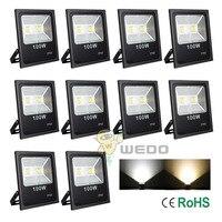 10 PCS 100W Black Shell Ultra Slim LED Flood Light Garden Waterproof Outdoor Lamp IP65 Cool