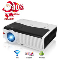 CAIWEI A9A 5000 Lumen Ondersteuning 1080 p Full HD LED Home Projector LCD voor Prive Cinema Theatre Movie Video Audio Game Film
