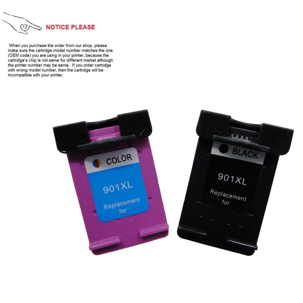 YOTAT Remanufactured 901 Ink Cartridge HP901 for HP Officejet 4500 - Kancelářské elektroniky