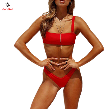 Ariel Sarah Sexy Bikini Bathing Suit Halter Swimwear Women Swimsuit Girl Bikini Push Up Beach Wear Solid Bikini Set Monokini 1