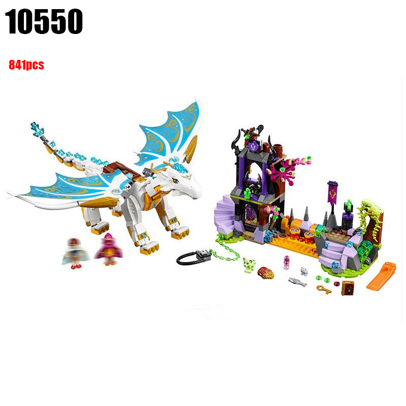 10550 Compatible with Elves 41179 White Dragon The Elf Series Of Long After The Rescue Cction Blocks Girls Assembled Blocks hot elves long after the rescue ction fairy building block model compatible lepins