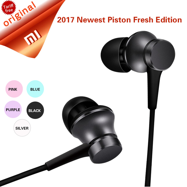 Original Xiaomi Mi Piston Earphone In Ear Xiaomi Fresh Edition Basic Version Earphone In Stock with Mic for Samsung for Xiaomi