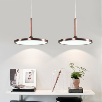 Circular Disk Kitchen Hanging Nordic Modern Simple LED Pendant Lights Restaurant Bedroom Ballway Cafe Bar Individual Lamps