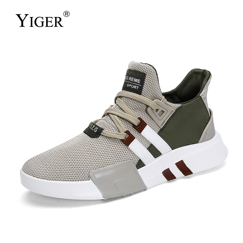YIGER New Men Sports Shoes Male Sneakers Man Causal Mesh Shoes Lightweight And Breathable Running Shoes  321