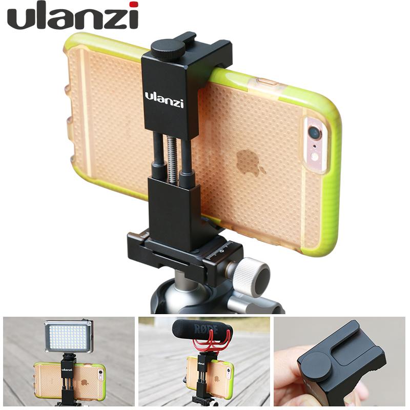 Prix pour Ulanzi Mise À Jour Téléphone Trépied avec Hot Shoe compatible avec led lumière de la caméra et microphone pour youtube Vlogger Vidéo Maker