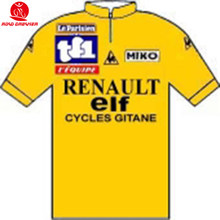 Tour de France 1981 Official Tissue shirt yello Renault-Elf Team Retro old  style cycling 511b16202