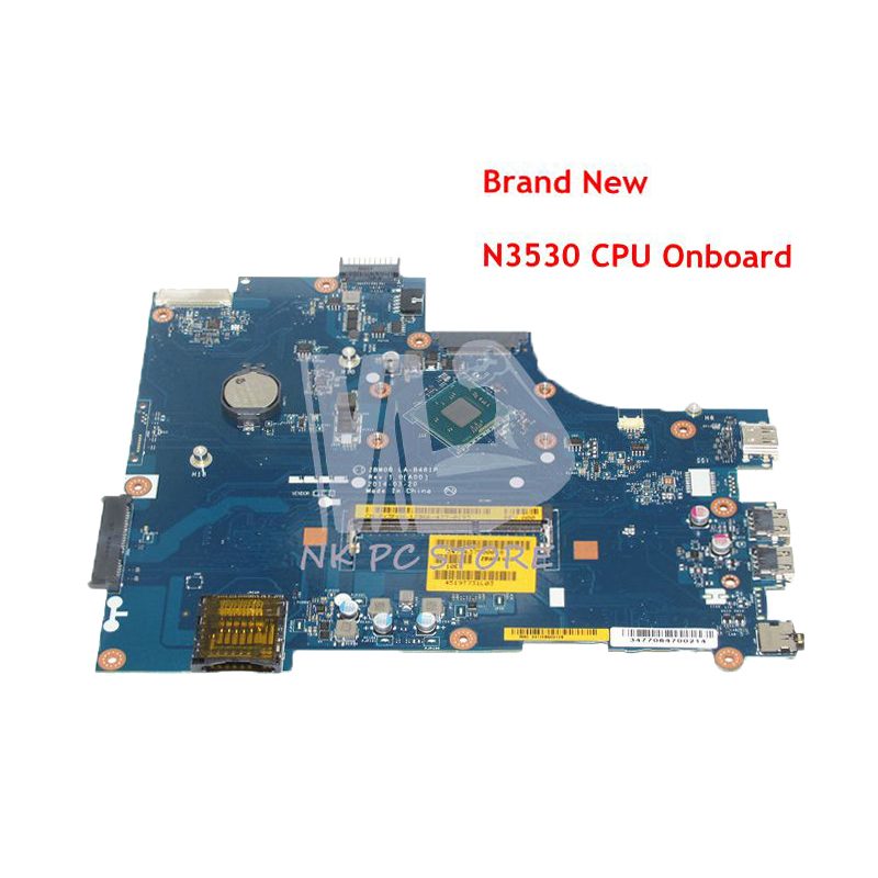 NOKOTION Brand New CN-0Y3PXH 0Y3PXH MAIN BOARD For Dell inspiron 15 3531 Laptop Motherboard ZBW00 LA-B481P N3530 CPU Onboard nokotion brand new cn 0y3pxh 0y3pxh for inspiron 15 3531 laptop motherboard zbw00 la b481p sr1w2 n3530 cpu onboard ddr3