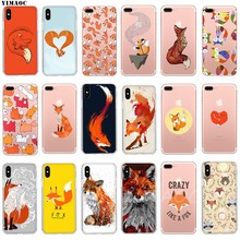 Yimaoc Puzzle Hewan Rubah Fox Lembut TPU Silicone Case Cover For iPhone 8 7 6 6S PLUS 5 5S SE X XS Max XR Silicone Shell Kasus(China)