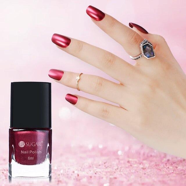 Tienda Online Ur azúcar rojo metálico Esmaltes de uñas efecto espejo ...