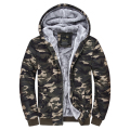 camo parka2015 Male Hooded Jackets Printed Hoody Men Camouflage Coat Wear Velvet Zipper Hoodies Men Sweatshirts DS109
