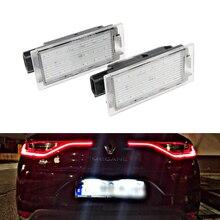 2 шт. белый Автомобильный светодиодный номерной знак, подсветка для Renault Clio Megane Twingo II Lagane II 5D Vel Satis Master