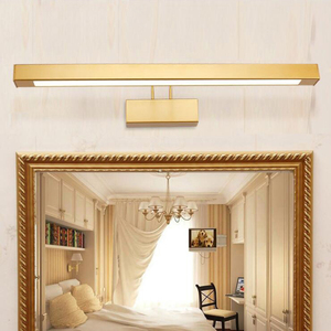 Image 2 - 9W/12W/14W/16W LED Wall sconce light adjustable mirror front Lamp Fixture SMD 2835 washroom gold shell