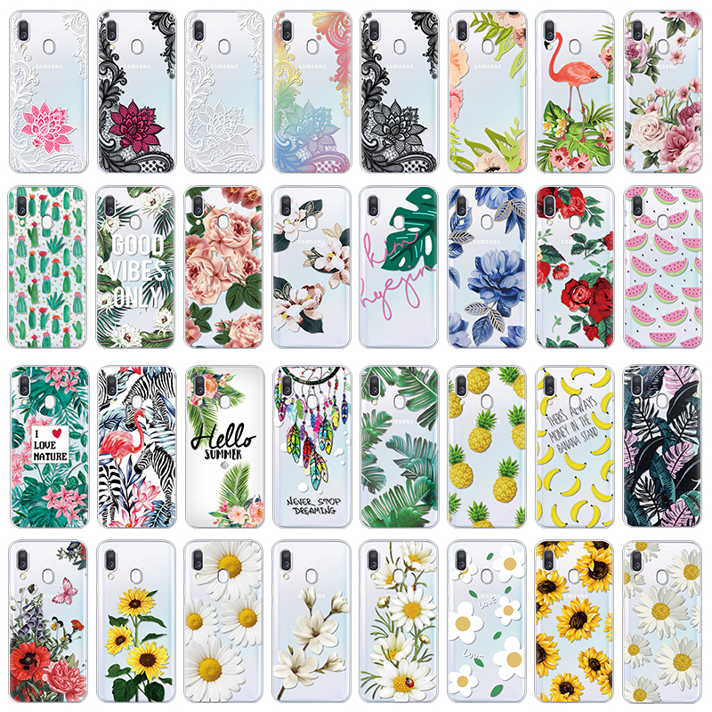 Luxury Flower Case For <font><b>Samsung</b></font> Galaxy A40 A30 A50 A70 A60 <font><b>A10</b></font> Case Fashion silicone Soft TPU Cover Coque Phone Cases Capa <font><b>Funda</b></font> image