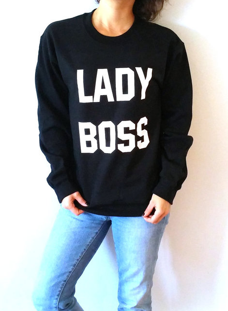 4e46ef06 Lady Boss Sweatshirt Unisex for women funny slogan teen jumper cute sassy  girlfriend gift jumper crewneck girl power saying-E015