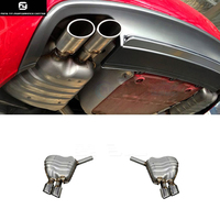 A5 S5 RS5 Stainless steel car exhaust pipes auto muffler tips for AUDI A5 S5 RS5 car styling 2010 2015