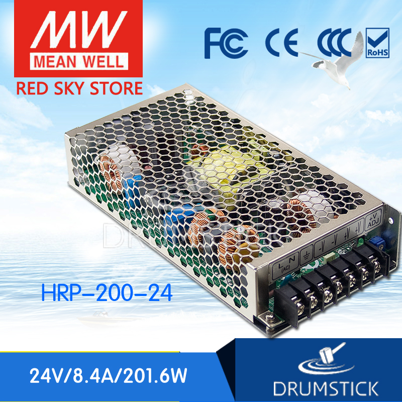 MEAN WELL HRP-200-24 24V 8.4A meanwell HRP-200 24V 201.6W Single Output with PFC Function Power Supply [Real1] best selling mean well hrp 200 7 5 7 5v 26 7a meanwell hrp 200 7 5v 200 3w single output with pfc function power supply