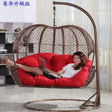 Hanging baskets wicker chair cradle swing hanging indoor and outdoor balcony rattan lounge rocking single or double