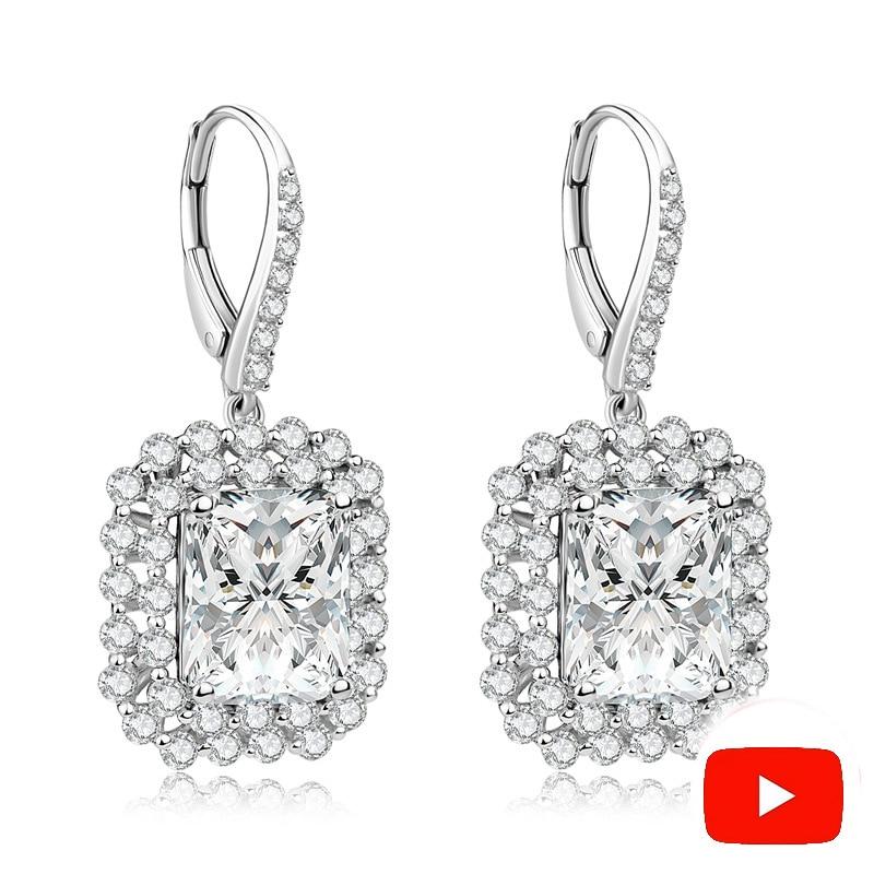 Sona NOT FAKE Fine Jewelry Earrings S925 Sterling silver diamond Luxury Earrings Women custom jewelry