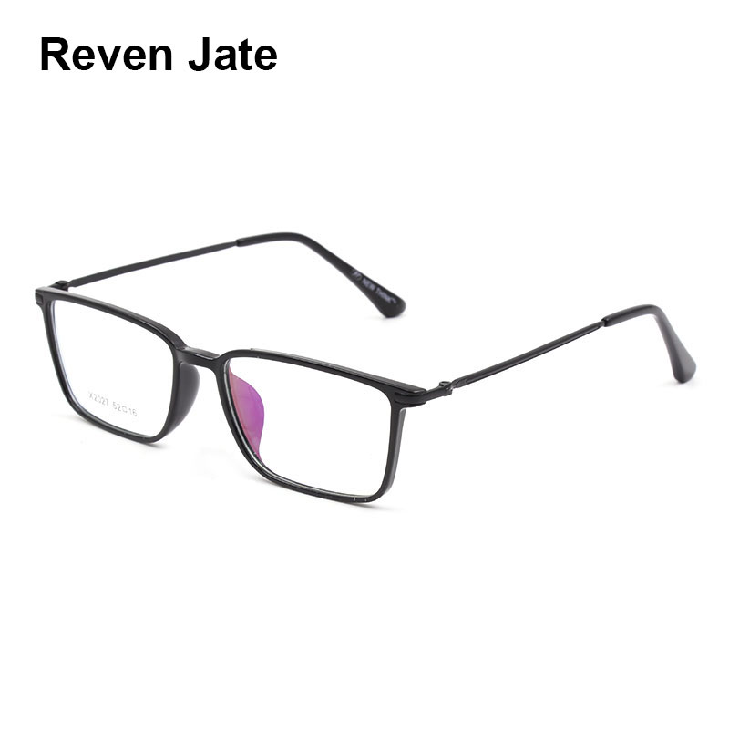 Reven Jate X2027 Full Rim Plastic Metal Eyeglasses frame for Men and Women Optical Eyewear Glasses Frame 5 Colors-in Men's Eyewear Frames from Apparel Accessories