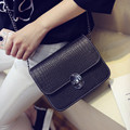 2017 new small square bag Korean trend crocodile pattern chain small incense wind shoulder bag small bag