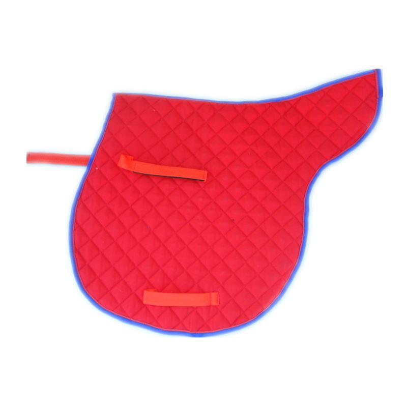 Red Horse Saddle Pad Blue Saddle Cloth Cotton Fabric Anti-skidding Breathable Fabric Not Easily Deformed Numnah  Saddle Cushion