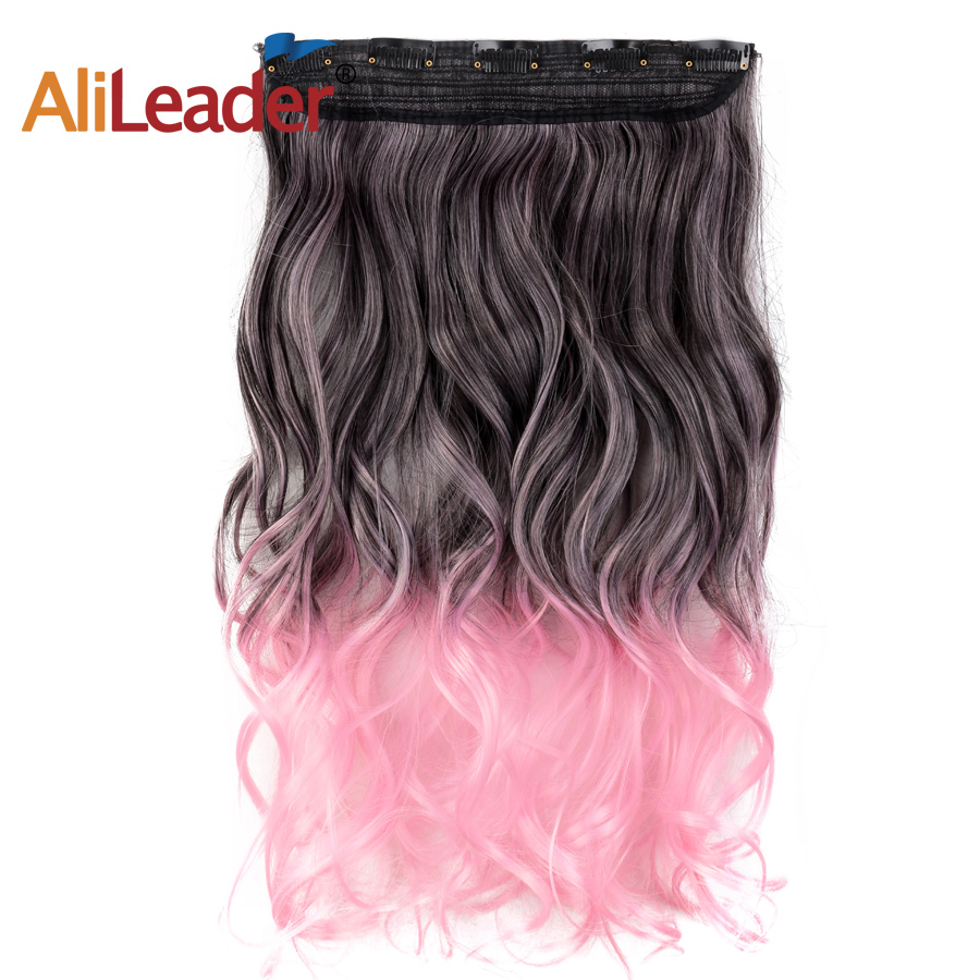 One Piece 5clips Jeedou Straight Synthetic Hair Clip In Hair Extensions 22 55cm 100g Blue Brown Green Pink Ombre Piano Color Hair Extensions & Wigs Synthetic Extensions