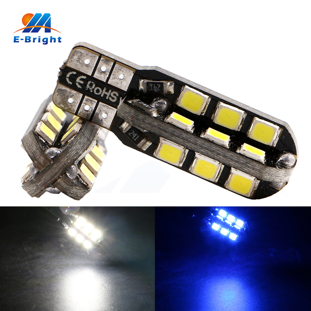 20pcs 1.8W T10 <font><b>Canbus</b></font> 2835 24 SMD <font><b>LED</b></font> Bulbs Error Free Car Map Lamp License Plate Instrument Reading Lights 12V Free Shipping