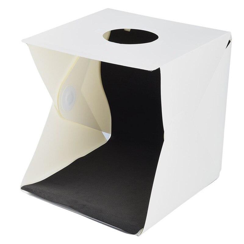 30X30X30 cm Portable Folding Photo Studio LED Light Box Softbox Kit Built-in Photography Backdrop Mini Photo Studio 5pcs lot led photo studio professional portable mini kit photo photography studio light box sanoto softbox k50 for 220 110v