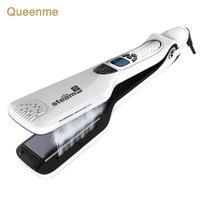 Queenme Steam Hair Straightener Brush Electric Chapinha Titanium Profissional Steam Flat Iron Styling Hair Straightening Comb