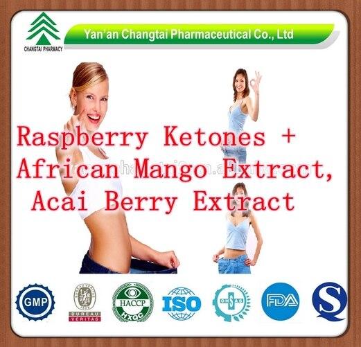 ФОТО NEW Pure Raspberry Ketones + African Mango Extract, Acai Berry Extract Complex Caps 500mg x 300pcs