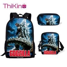 Thikin Godzilla Final Monstar 3Pcs/set Book Bags Children School Bag for Boys School Backpack for Teen Boys Girls Kids Book Bags цена