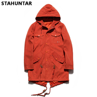 Winter Jacket Men Fashion Men Jacket Coat Pocket Button Bomber Blue Red Gray Male Jackets Military