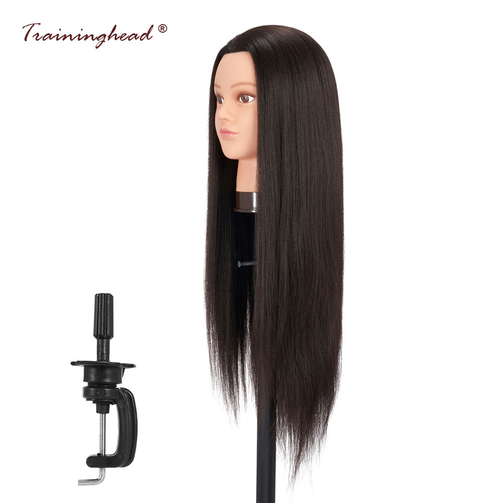 Traininghead 26-28 Hair Mannequin Head For Wigs Practice Dummy Doll Head Display Holder Stand Training Head Model Salon Hairsty