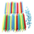 25PCS Plastic Styling Hair Rollers Curler Magic Spiral Perm Rod Bars Salon Hairdressing Tools Baber Rotating Screw
